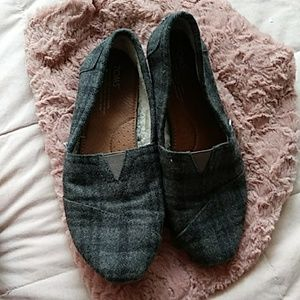 Toms Flannel Flats 9
